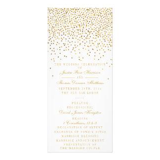 Panfleto A coleção Glam do casamento dos confetes do ouro