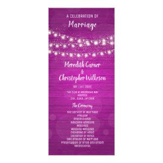 Panfleto A corda de madeira cor-de-rosa rústica ilumina o