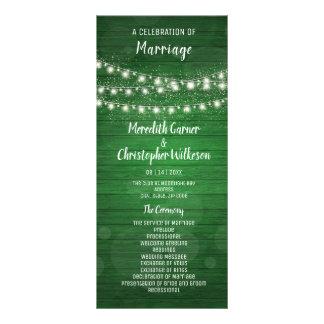 Panfleto A corda de madeira verde rústica ilumina o