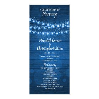 Panfleto A margarida de madeira azul rústica floresce luzes