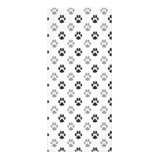 Panfleto A pata preto e branco bonito imprime o teste