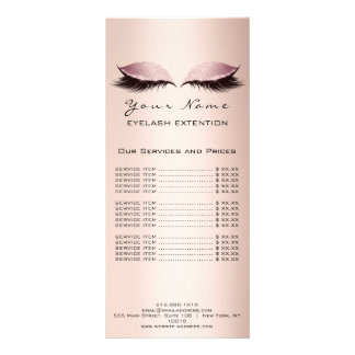 Panfleto A tabela de preços chicoteia o Lux do rosa do