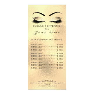Panfleto A tabela de preços de marcagem com ferro quente
