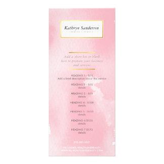 Panfleto Aguarela cor-de-rosa moderna da LISTA do SERVIÇO