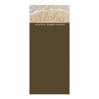 Panfleto Aloha palavra da areia