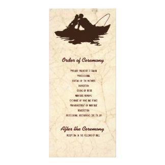 Panfleto Amantes da pesca de Brown que Wedding o programa