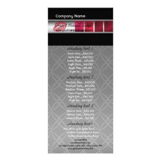 Panfleto Artista na moda vermelho, cor-de-rosa, preto e da