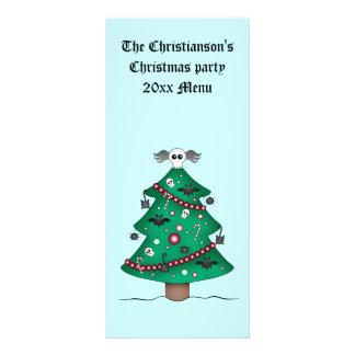 Panfleto Árvore de Natal gótico bonito
