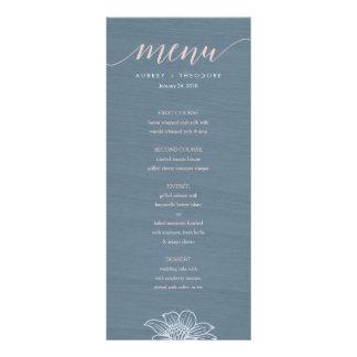 Panfleto Azuis empoeirados & coram as flores que Wedding o