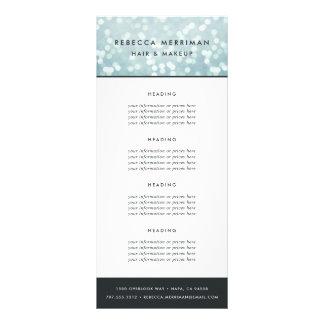Panfleto Azul de gelo Bokeh fixação do preço ou serviços de
