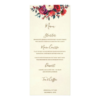 Panfleto bagas florais do inverno do Natal que wedding o