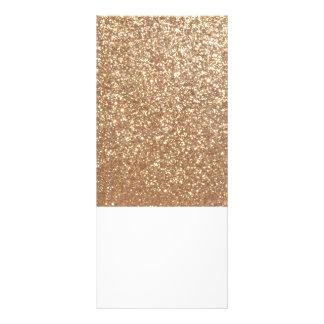 Panfleto Brilho metálico do ouro cor-de-rosa do cobre