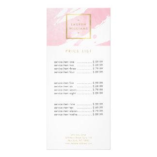 Panfleto Brushstrokes abstratos da aguarela do rosa Pastel