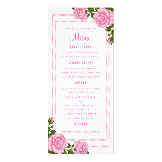 Panfleto Buquês de canto cor-de-rosa bonito que Wedding o