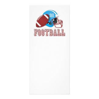 Panfleto Capacete e bola de futebol