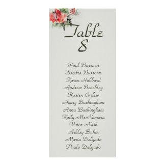 Panfleto Carta floral oriental do assento do casamento da