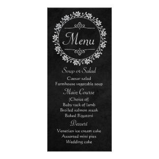 Panfleto Casamento cinzento preto floral da grinalda da