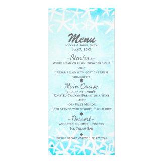 Panfleto Casamento de praia tropical azul pintado do Aqua