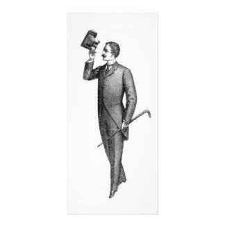 Panfleto Cavalheiro Selfie do Victorian