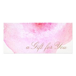Panfleto Certificado de presente abstrato cor-de-rosa do
