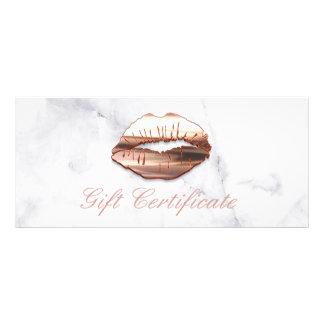 Panfleto certificado de presente cor-de-rosa do salão de