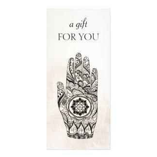 Panfleto Certificado de presente de Lotus do Henna do