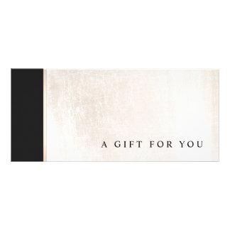 Panfleto Certificado de presente de mármore branco preto do
