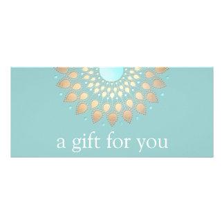 Panfleto Certificado de presente do bem-estar da mandala de