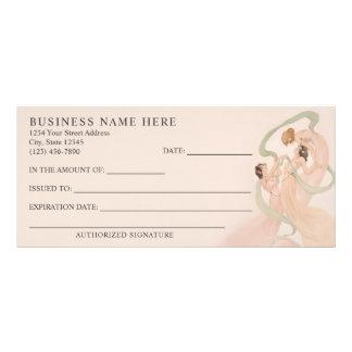 Panfleto Certificado de presente feminino dos Mayflies de
