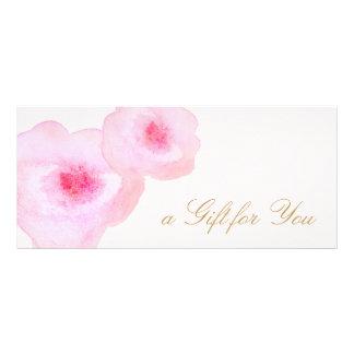 Panfleto Certificado de presente floral cor-de-rosa do rosa