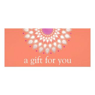 Panfleto Certificado de presente floral da massagem