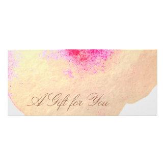 Panfleto Certificado de presente floral do salão de beleza