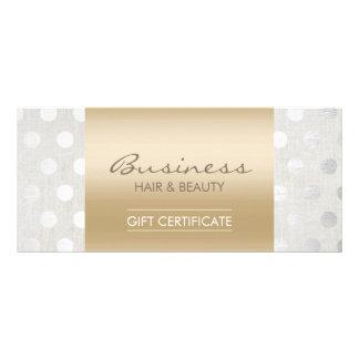 Panfleto Certificados de presente elegantes do salão de