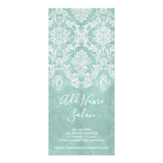 Panfleto Cor damasco do vintage do azul de gelo com
