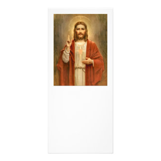 Panfleto Coração sagrado com halo
