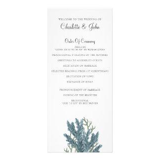 Panfleto Corais azuis sob os programas do casamento do mar
