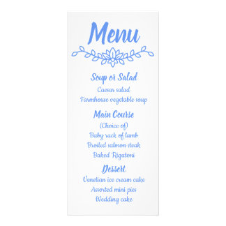 Panfleto Cornflower azul floral & festa de casamento branca