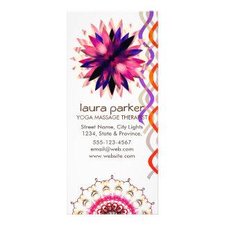 Panfleto Cura da ioga da aguarela da flor de Lotus