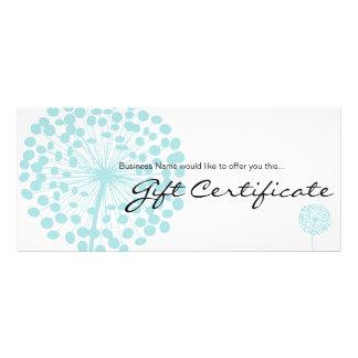Panfleto Design azul 4b do certificado de presente da flor