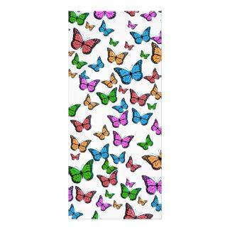 Panfleto Design do teste padrão de borboletas
