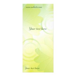 Panfleto Design floral verde moderno