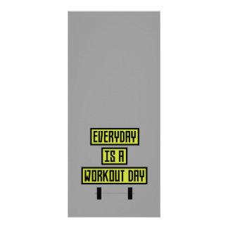 Panfleto Dia diário Z81fo do exercício