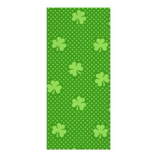 Panfleto Dia verde de Patricks do santo do teste padrão do