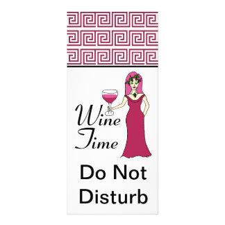 """Panfleto Do """"O teste padrão chave da deusa do tempo vinho"""""""