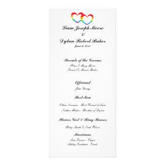 """Panfleto Do """"programa do casamento dos corações dobro"""