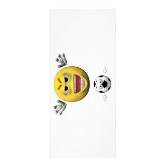 Panfleto Emoticon amarelo ou smiley do futebol