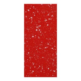 Panfleto Estrelas do brilho - vermelho de prata
