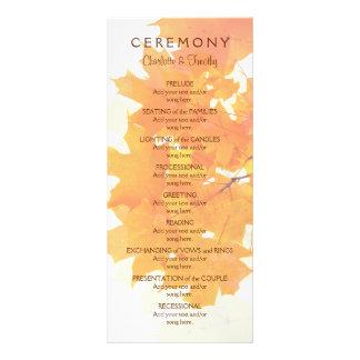 Panfleto Folhas de bordo do outono que Wedding o programa