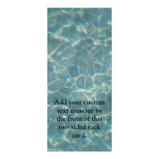 Panfleto Fundo da água azul