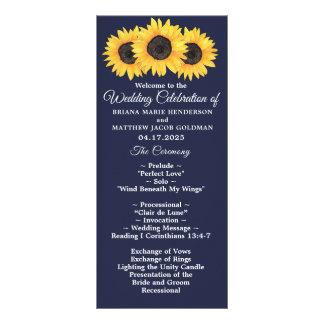 Panfleto Girassóis que Wedding o país do programa floral no